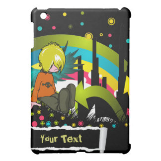 Emo Boy Under Rainbow - / for  iPad Mini Cover