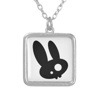 Emo Bunny Personalized Necklace