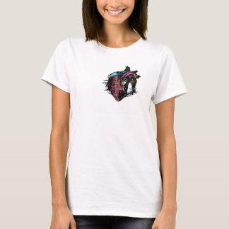 Emo Care Bear Heart T-Shirt