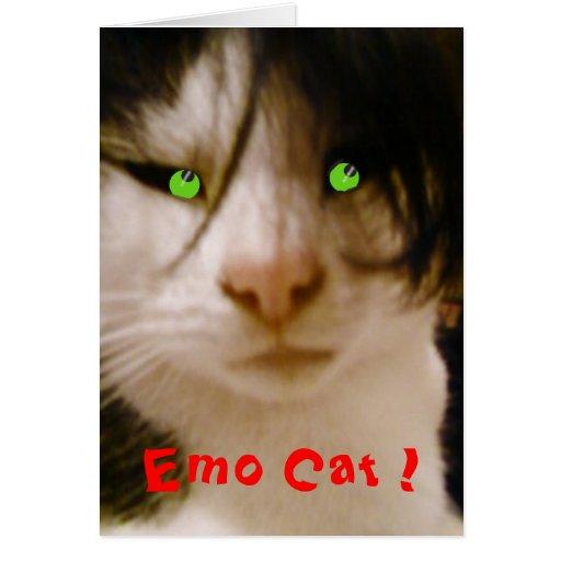 Emo Cat ! Greeting Card