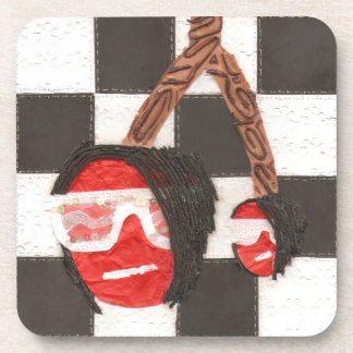 Emo Cherries Plastic Coasters