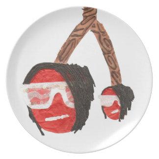Emo Cherries Plate