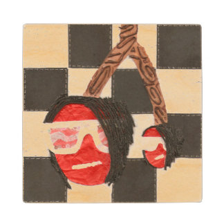 Emo Cherry Wooden Coaster