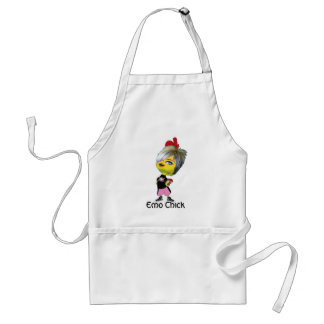 Emo Chick Adult Apron