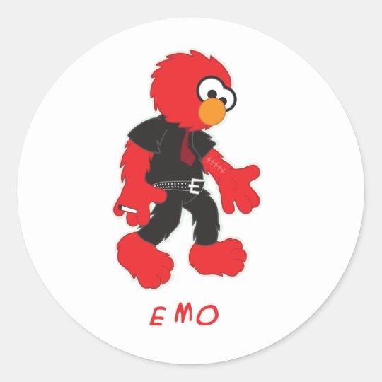 emo classic round sticker
