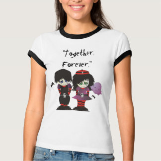 Emo Couple in Love - Together Forever T-Shirt