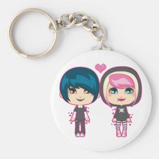 Emo Couple Keychain