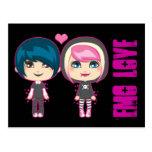Emo Couple Post Card