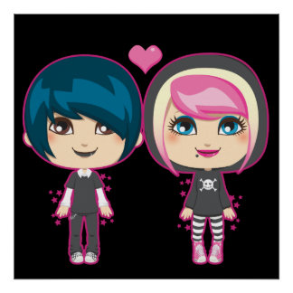 Emo Couple Poster