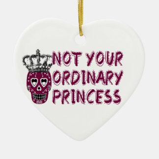 Emo /dark/tough/Princess Adorno Navideño De Cerámica En Forma De Corazón