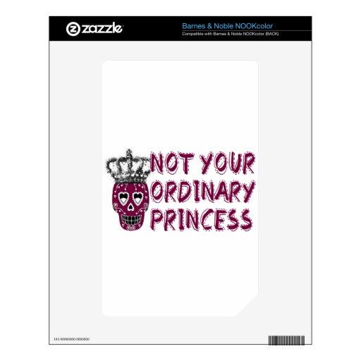 Emo /dark/tough/Princess NOOK Color Calcomanía