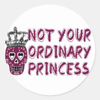 Emo /dark/tough/Princess Pegatina Redonda