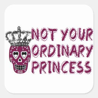Emo /dark/tough/Princess Pegatina Cuadrada