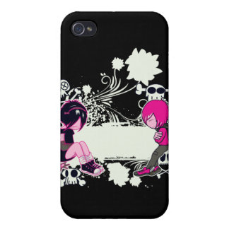 emo deep thoughts vector illustration cases for iPhone 4