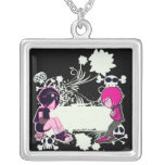 emo deep thoughts vector illustration jewelry