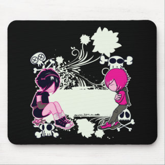 emo deep thoughts vector illustration mouse pads