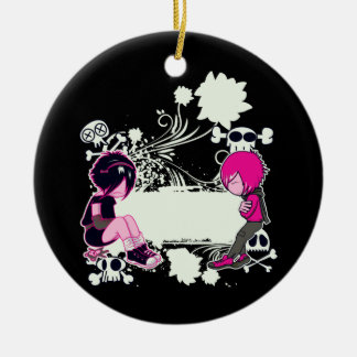emo deep thoughts vector illustration christmas tree ornaments