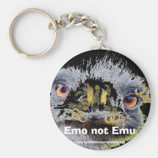 emo, Emo not Emu, Basic Round Button Keychain