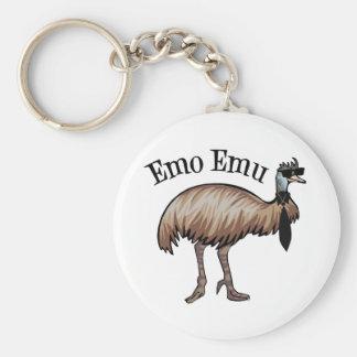 Emo Emu Basic Round Button Keychain