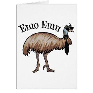 Emo Emu Greeting Card