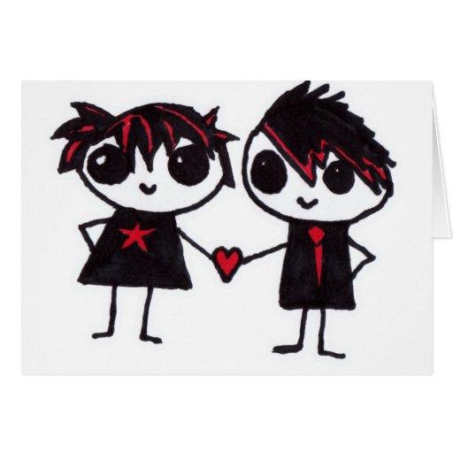 Emo en amor felicitación