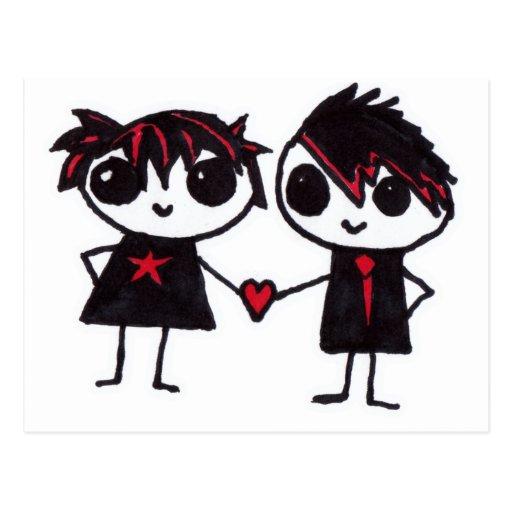 Emo en amor postal