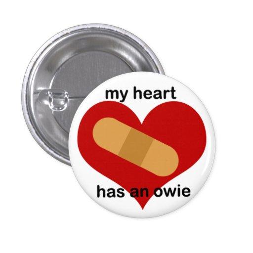 Emo en el corazón pin redondo 2,5 cm