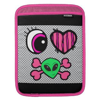 emo eye heart i heart aliens iPad sleeve