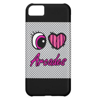 Emo Eye Heart I Love Arcades Case For iPhone 5C