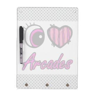 Emo Eye Heart I Love Arcades Dry Erase Board