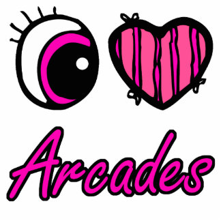 Emo Eye Heart I Love Arcades Photo Cutout
