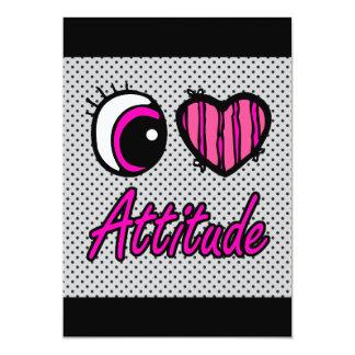 Emo Eye Heart I Love Attitude Card