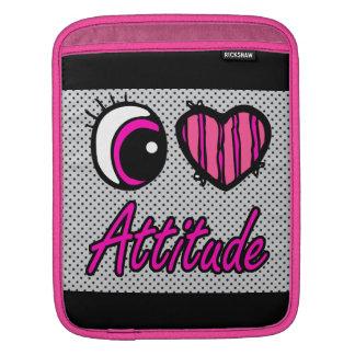 Emo Eye Heart I Love Attitude iPad Sleeves