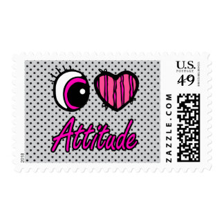 Emo Eye Heart I Love Attitude Stamps