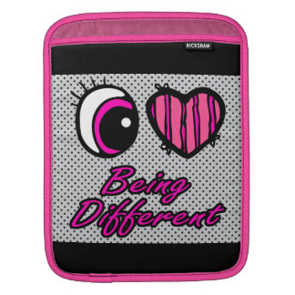 Emo Eye Heart I Love Being Different Sleeves For iPads