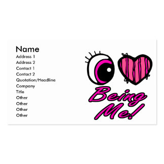Emo Eye Heart I Love Being Me Business Card