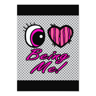 Emo Eye Heart I Love Being Me Card