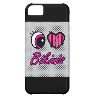 Emo Eye Heart I Love Bikinis iPhone 5C Covers