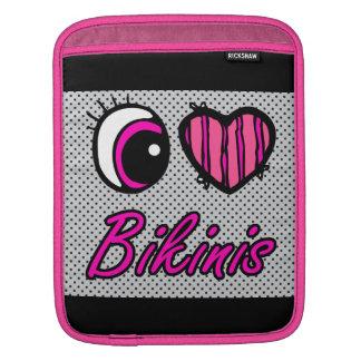 Emo Eye Heart I Love Bikinis iPad Sleeves