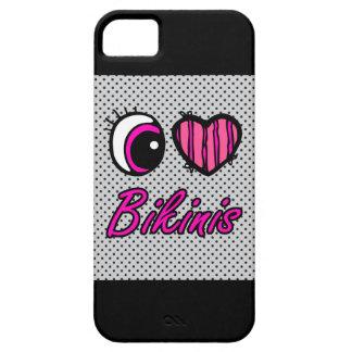Emo Eye Heart I Love Bikinis iPhone 5 Cases