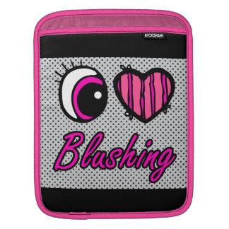 Emo Eye Heart I Love Blushing iPad Sleeve
