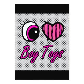 Emo Eye Heart I Love Boy Toys Card