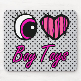 Emo Eye Heart I Love Boy Toys Mouse Pads