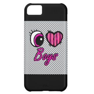 Emo Eye Heart I Love Boys Cover For iPhone 5C