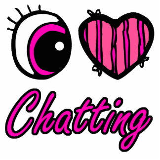 Emo Eye Heart I Love Chatting Photo Cut Outs
