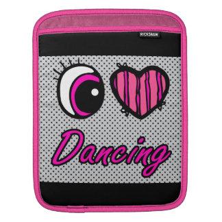 Emo Eye Heart I Love Dancing iPad Sleeve