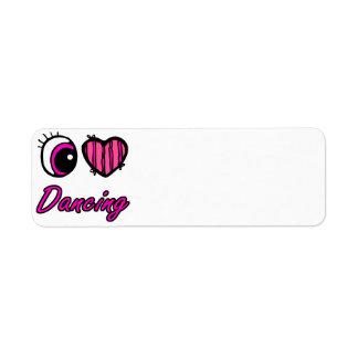 Emo Eye Heart I Love Dancing Label
