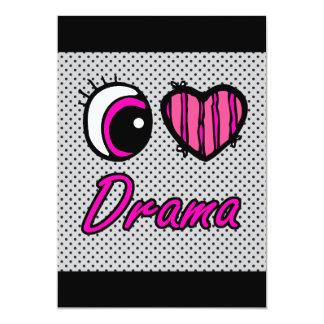 Emo Eye Heart I Love Drama Card