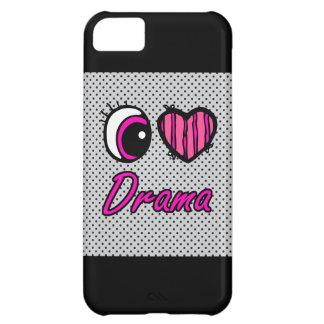 Emo Eye Heart I Love Drama Case For iPhone 5C
