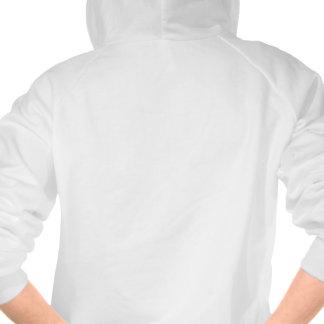 Emo Eye Heart I Love Drama Hooded Sweatshirt